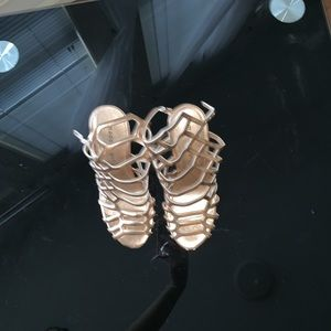 Madden Girl Rose gold heel sandal size 7